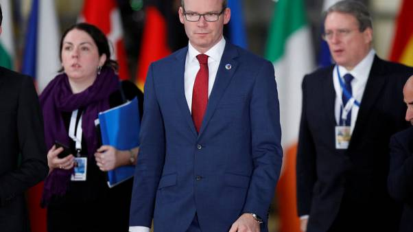 Ireland's Minister for Foreign Affairs Simon Coveney  arrives to attend the Eastern Partnership summit at the European Council Headquarters in Brussels, Belgium, November 24, 2017.    REUTERS/Christian Hartmann