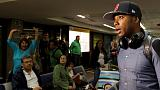 FILE PHOTO:  Brazilian soccer player Robinho arrives at Guarulhos International airport in Sao Paulo, Brazil, June 28, 2015.  REUTERS/Paulo Whitaker
