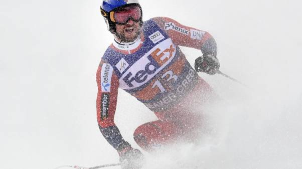 Dec 1, 2017; Avon, CO, USA; Aksel Lund Svindal of Norway during the men's Super G race in the 2017 FIS alpine skiing World Cup at Beaver Creek. Mandatory Credit: Michael Madrid-USA TODAY Sports