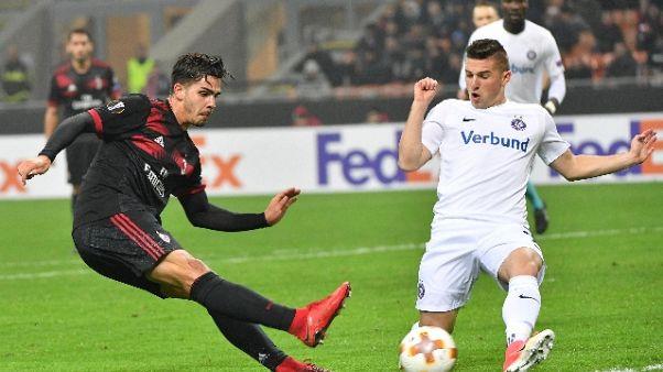 I rossoneri travolgono l'Austria Vienna, i bergamaschi l'Everton