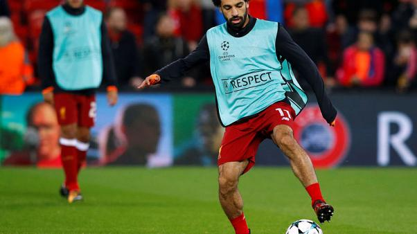 FILE PHOTO - Soccer Football - Champions League - Liverpool vs NK Maribor - Anfield, Liverpool, Britain - November 1, 2017   Liverpool's Mohamed Salah during the warm up before the match.  REUTERS/Phil Noble
