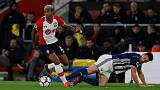 Soccer Football - Premier League - Southampton vs West Bromwich Albion - St Mary's Stadium, Southampton, Britain - October 21, 2017   Southampton's Mario Lemina in action with West Bromwich Albion's Gareth Barry     Action Images via Reuters/Paul Childs