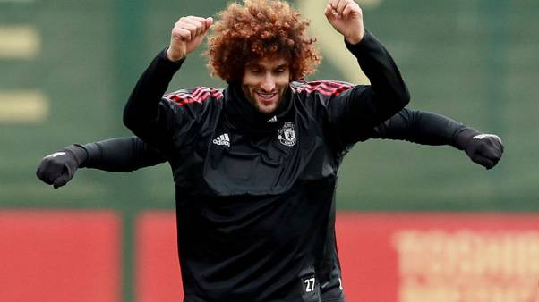 Soccer Football - Champions League - Manchester United Training - Aon Training Complex, Manchester, Britain - November 21, 2017   Manchester United's Marouane Fellaini during training   Action Images via Reuters/Jason Cairnduff