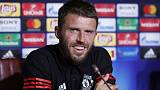 Soccer Football - Manchester United Press Conference - Skopje, Macedonia - August 7, 2017  Manchester United's Michael Carrick during the press conference  UEFA/Handout via REUTERS