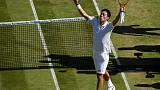 FILE PHOTO: Tennis - Wimbledon - London, Britain - July 5, 2017   Japan's Kei Nishikori celebrates winning the second round match against Ukraine's Sergiy Stakhovsky    REUTERS/Toby Melville/Files