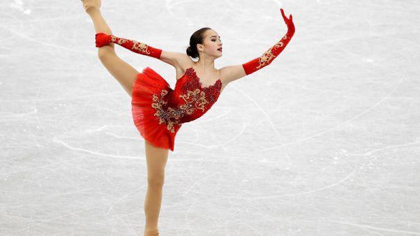 Figure Ice Skating - ISU Grand Prix of Figure Skating Final - Ladies Free Skating - Nagoya, Japan - December 9, 2017. Russia's Alina Zagitova in action. REUTERS/Issei Kato