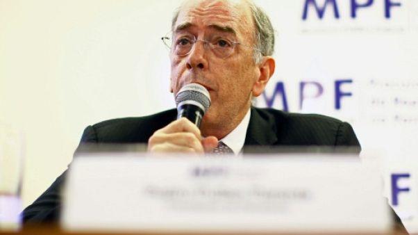 Le président de Petrobras, Pedro Parente, lors d'une conférence de presse à Curitiba, le 7 décembre 2017