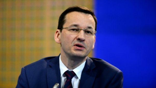 Le ministre polonais des Finances Mateusz Morawiecki qui doit remplacer Beata Szydlo à la tête du gouvernement conservateur nationaliste, le 22 Février à Paris