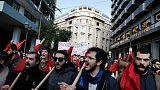إضراب في اليونان احتجاجا على إجراءات التقشف