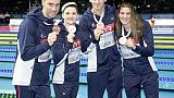 Natation: le relais en bronze, Bonnet s'offre un record sur 100 m