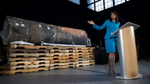 """Washington présente des preuves """"irréfutables"""" de ventes d'armes iraniennes"""