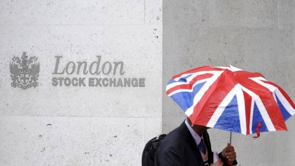 FTSE hovers, set for a weekly gain despite financials dragging