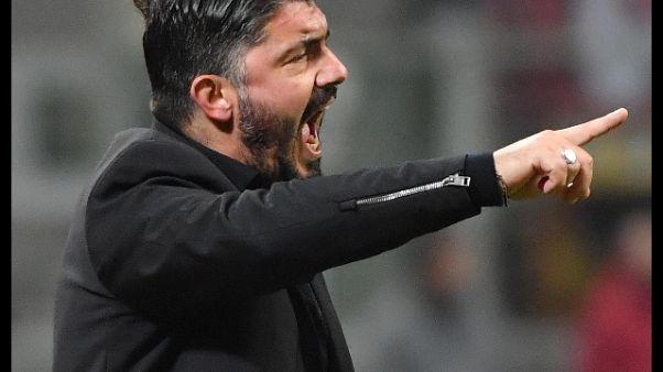 Gattuso, che fatica ma ho sostegno Milan