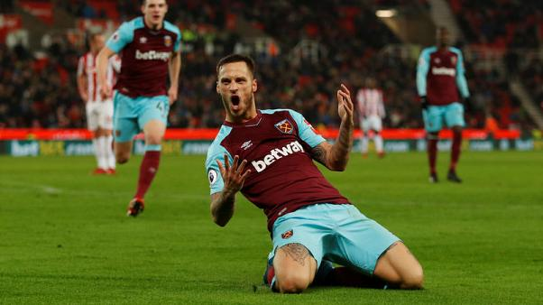 West Ham crush Stoke with Arnautovic on target
