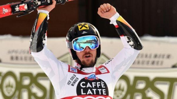 Ski: Hirscher sur sa planète en géant à Alta Badia