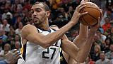 NBA: Gobert (Utah), touché au genou gauche, absent au moins deux semaines