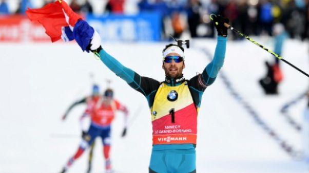 """Biathlon: """"Une grosse envie et de la hargne"""", estime Martin Fourcade"""