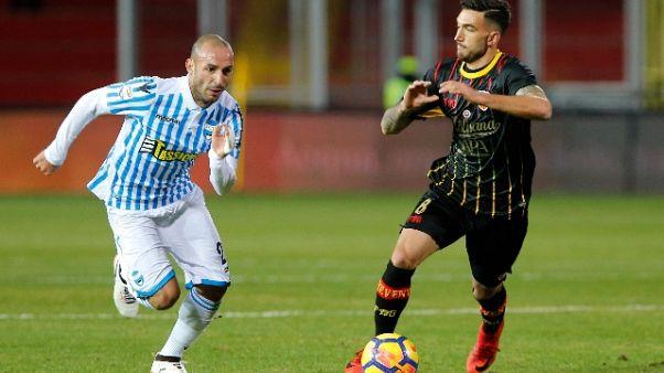 Calcio: Benevento-Spal 1-2