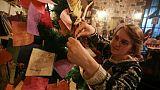 A Damas, un sapin recueille des voeux de paix pour 2018