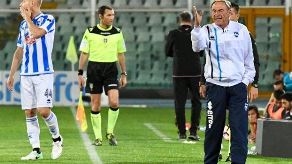 Pescara: Zeman dirige l'allenamento