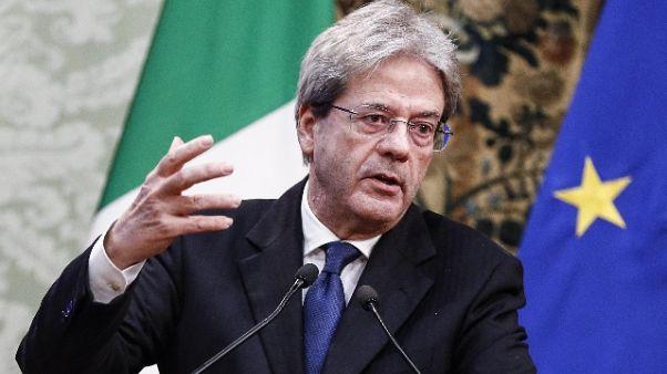 Gentiloni, Italia ha bisogno di sognare