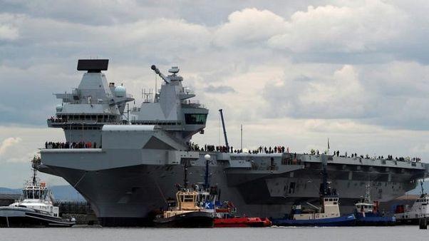 وزارة الدفاع: رصد تسريب في أكبر سفينة حربية بريطانية على الإطلاق