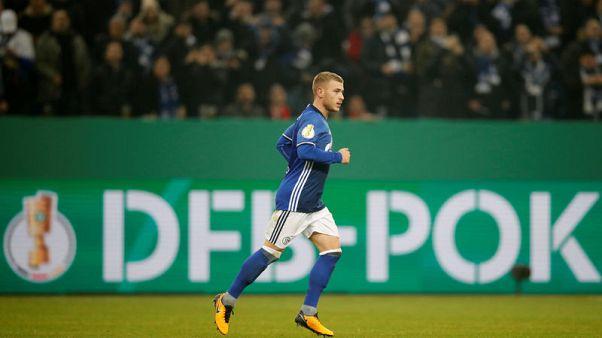 Soccer-Meyer heads Schalke into German Cup last eight
