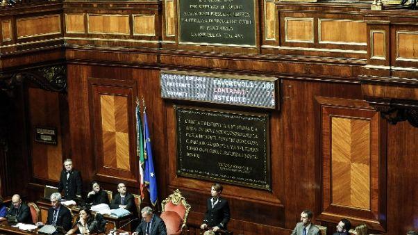 Senato: voto segreto per regolamento