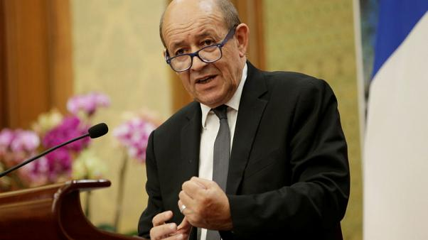 France's Le Drian says 'no' to Iran Mediterranean axis
