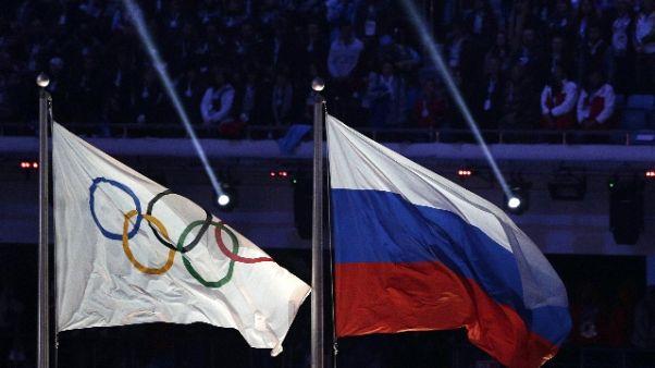 Pyeongchang, scritta 'Russia' su divise