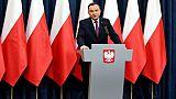 """Etat de droit: le président polonais accuse Bruxelles de """"mentir"""""""