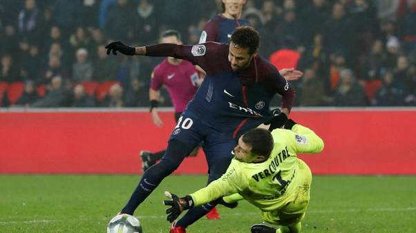 PSG beat Caen to reach halfway mark with nine-point lead