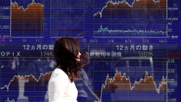 نيكي يتراجع مع انخفاض البنوك والبيع ينحسر في قطاع الإنشاءات