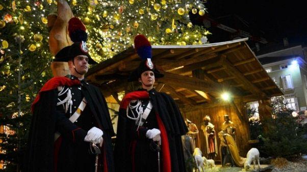 Carabinieri al mercatino di Bolzano