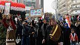"""A Alep, des milliers de personnes célèbrent la """"victoire"""" du régime syrien"""