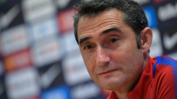 """Real-Barça: Valverde prévoit une """"bonne ambiance"""" malgré la crise catalane"""
