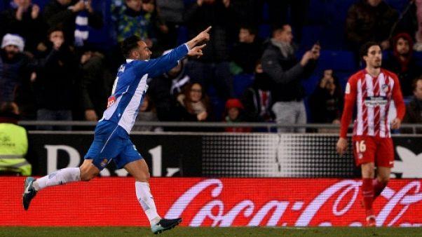 Espagne: l'Atletico chute contre l'Espanyol 1-0, son premier revers