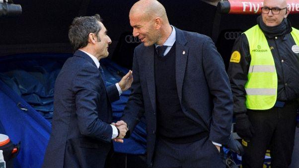"""Barca,Valverde """"Mai dare Real per morto"""""""