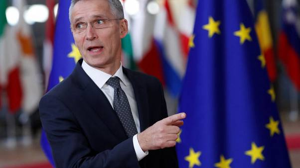 NATO's Stoltenberg says EU and NATO stronger together