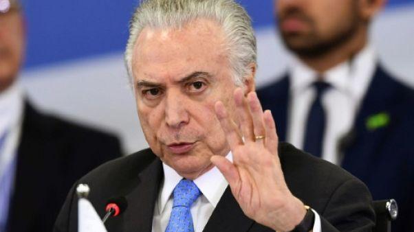 Brésil: Temer appelle le Congrès à voter la réforme des retraites