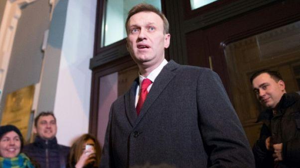 Privé de présidentielle, l'opposant russe Navalny appelle au boycott