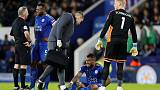 Leicester's Simpson out of Liverpool clash