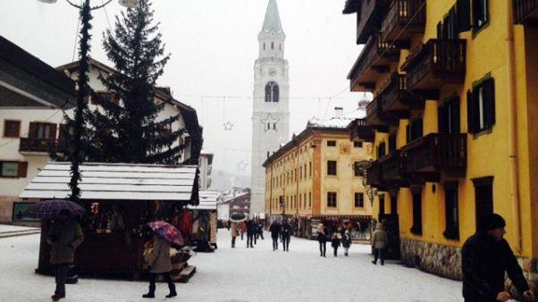 Nevica su tutta la montagna veneta