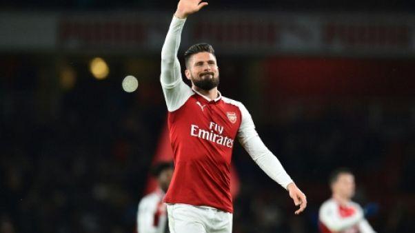Arsenal: Olivier Giroud absent jusqu'à mi-janvier