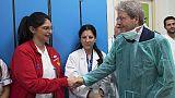 Gentiloni visita ospedale Bambino Gesù