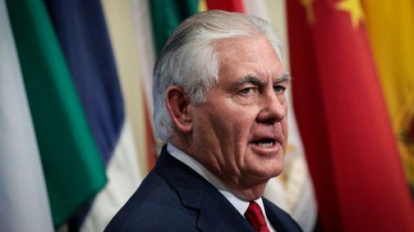 """Corée du Nord: Rex Tillerson affirme que la """"pression sera maintenue"""""""