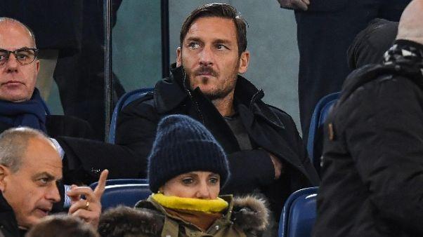 """Totti """"non penso a fare allenatore"""""""