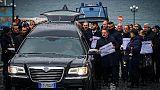 Protesta carri funebri, corteo a Napoli