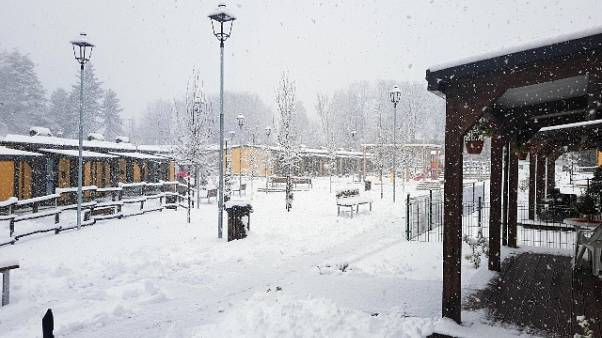 Terremoto: Neve tra Amatrice e Accumoli