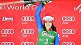 Ski: Brignone surprend à Lienz et se montre à un mois des Jeux